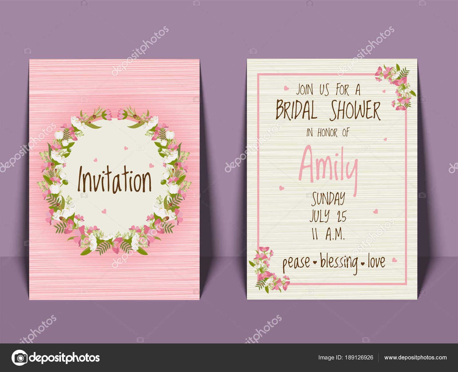 Bridal shower invitation card templates. — Vector by alliesinteract