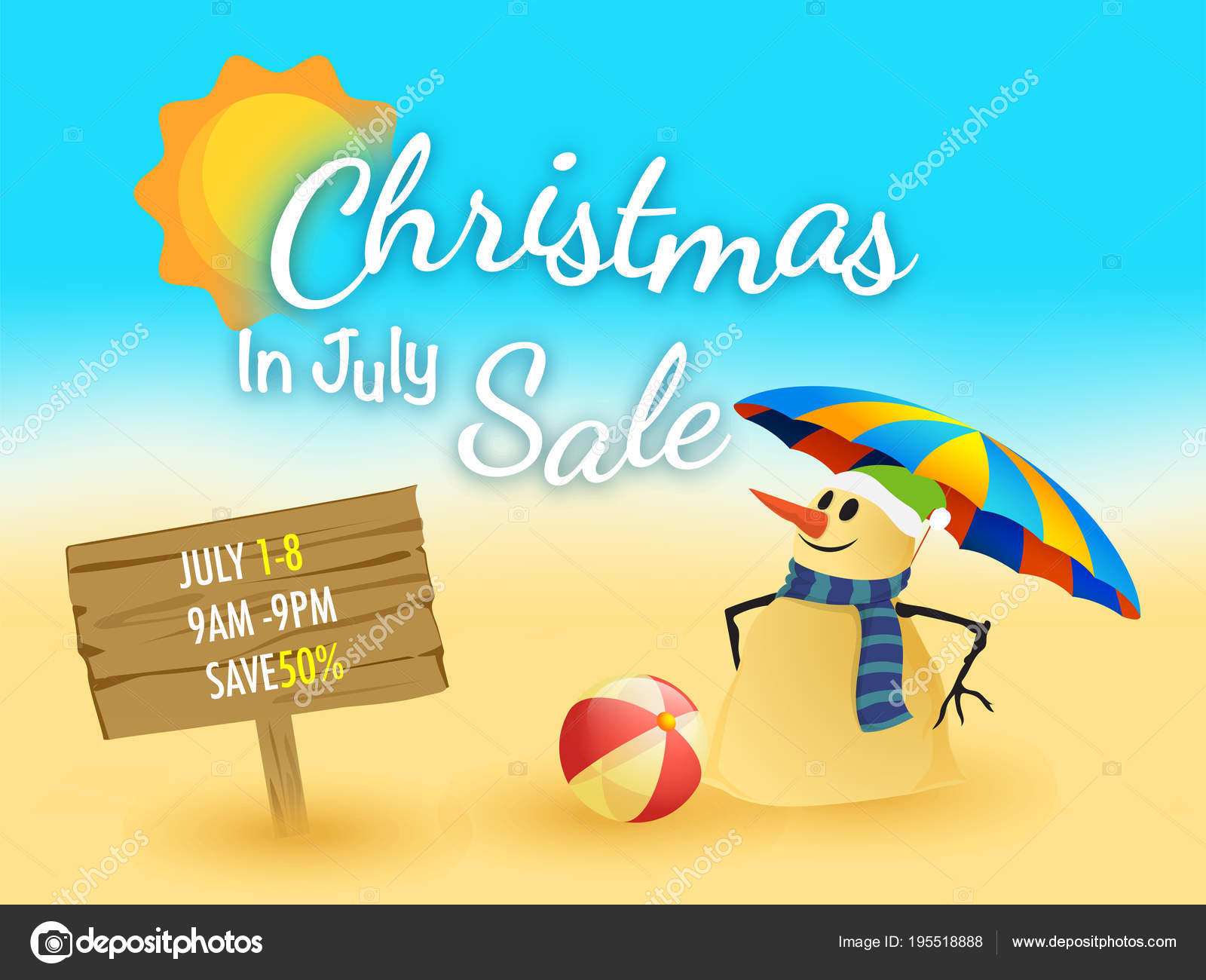 Christmas In July Sale Images.Christmas In July Fest Sale Banner Poster Or Flyer Design