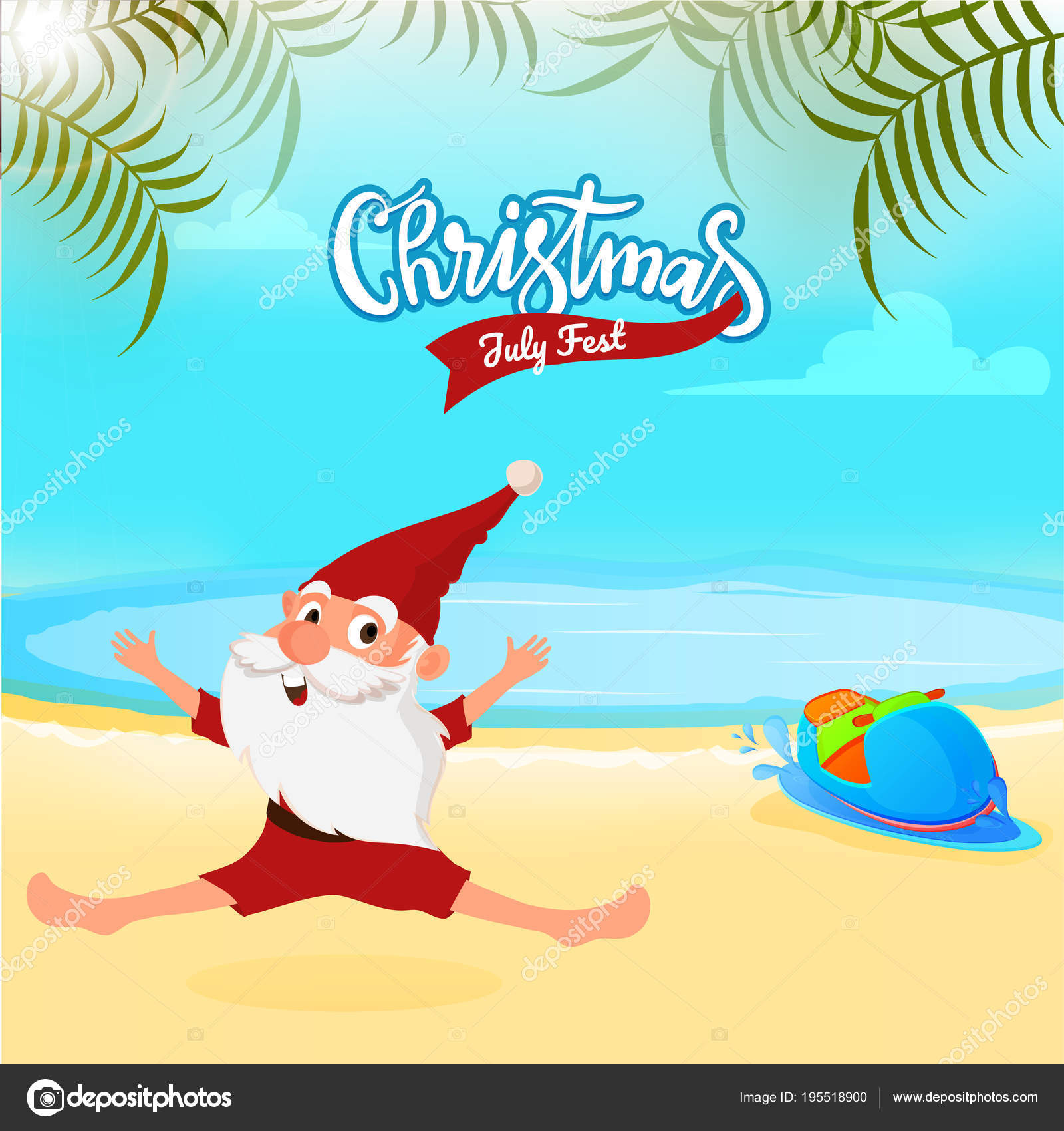 Christmas In July Background Images.Christmas In July Fest Sale Banner Poster Or Flyer Design
