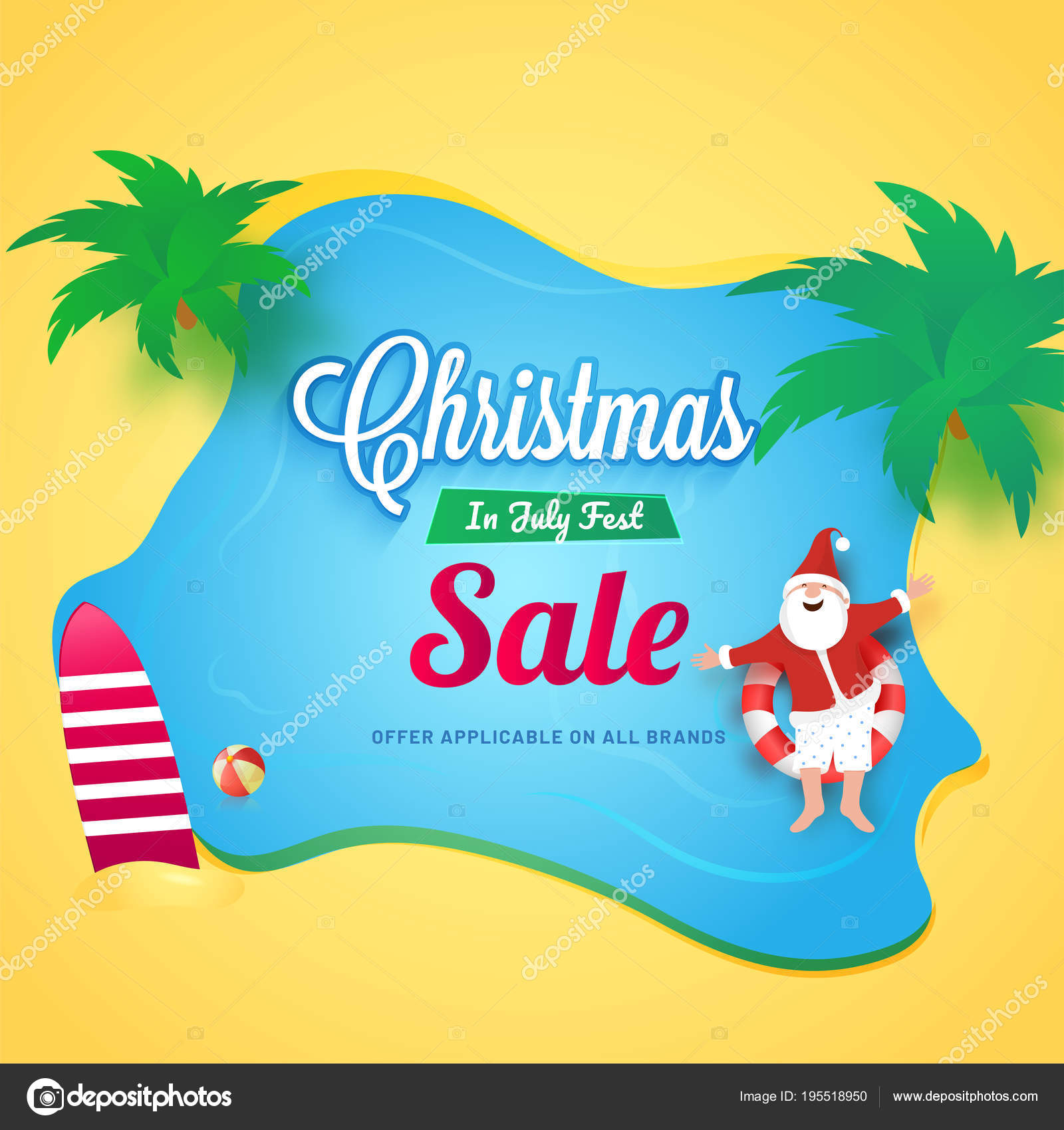 Christmas In July Sale Images.Christmas In July Flyer Christmas In July Fest Sale