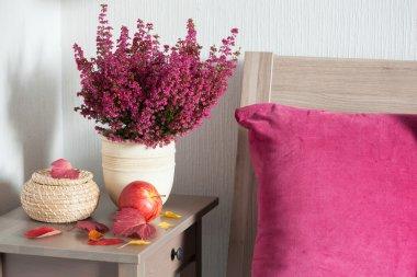 colorful cushion cozy home bedroom autumn mood flower leaf