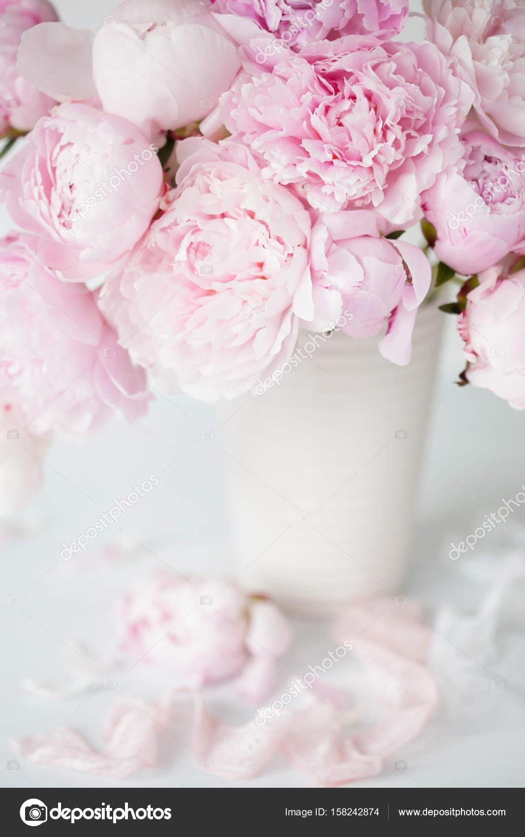 Beautiful pink peony flowers bouquet in vase stock photo beautiful pink peony flowers bouquet in vase photo by duskbabe izmirmasajfo