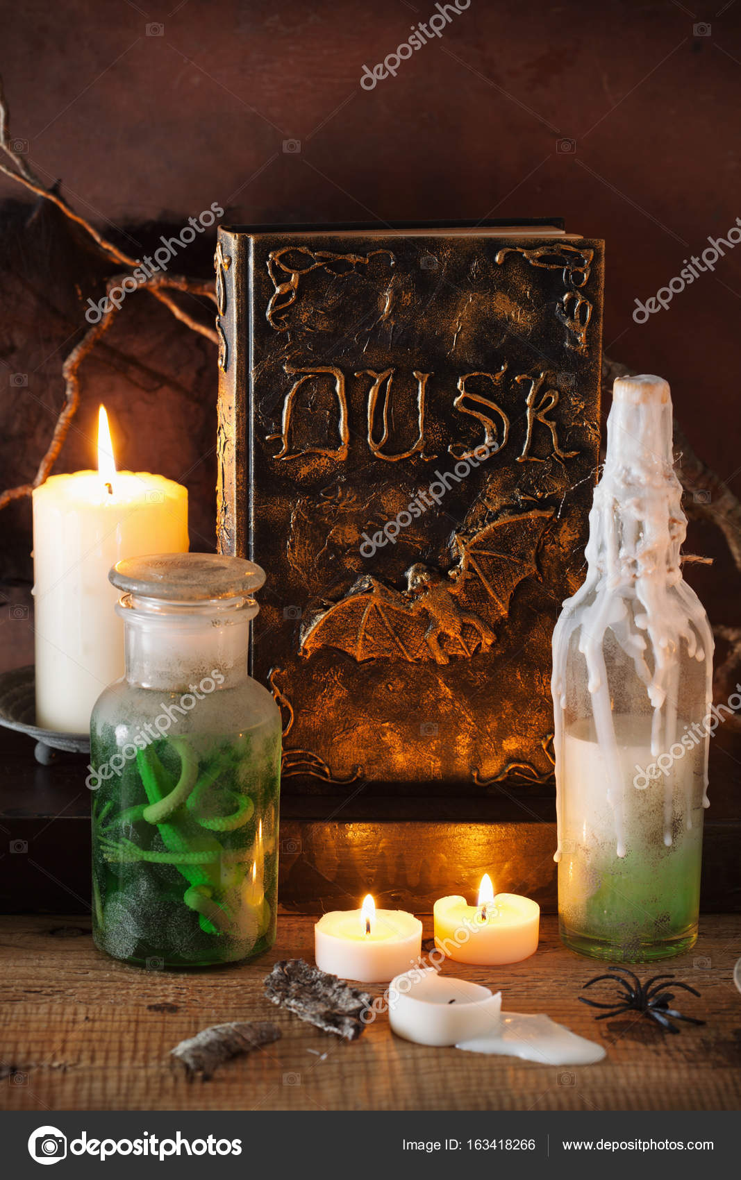 Witch apothecary jars magic potions halloween decoration ...