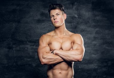 Shirtless sporty male