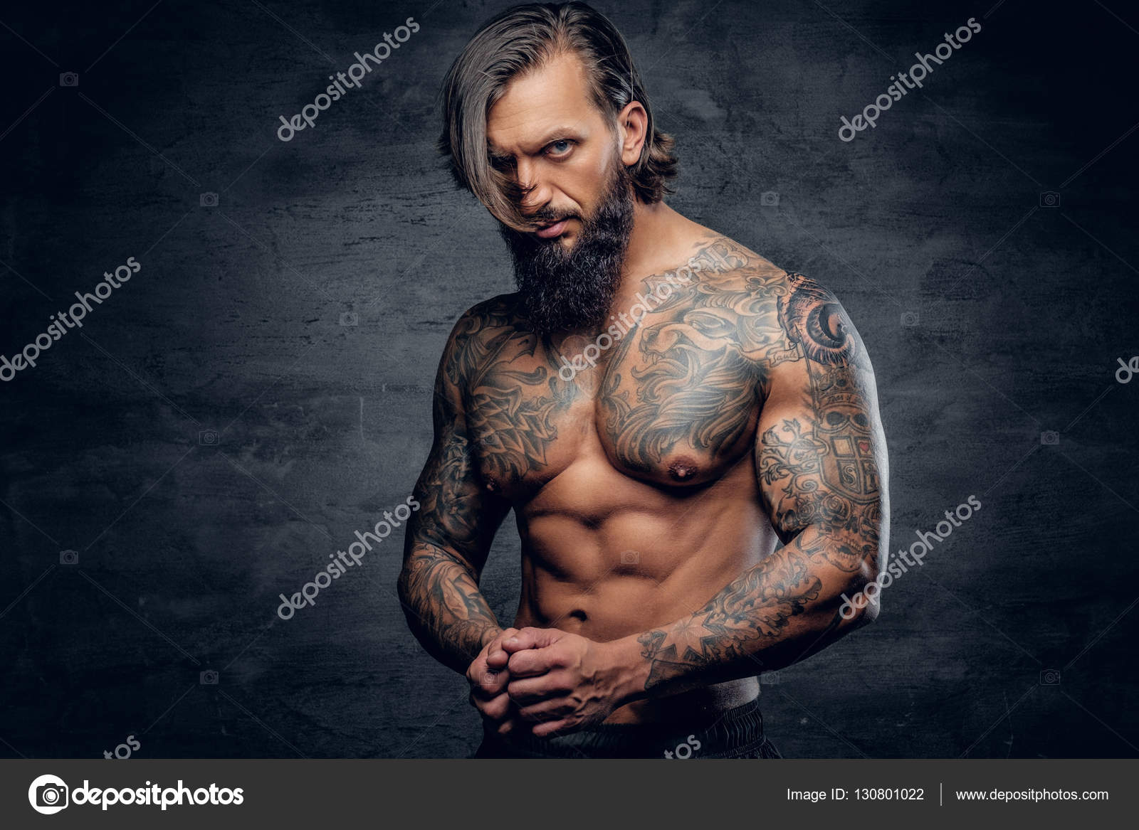 Think, Men with beards tattoos and muscles share