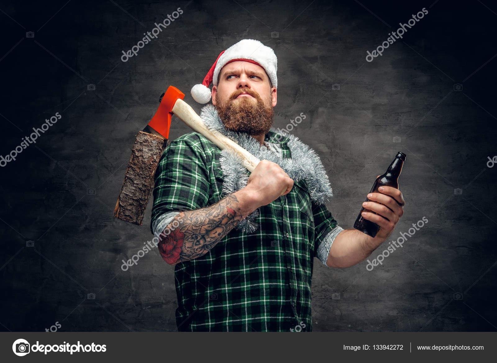Sfidato L'uomo Ha In Santa Brutal Della Cappello Uq0wnx5C
