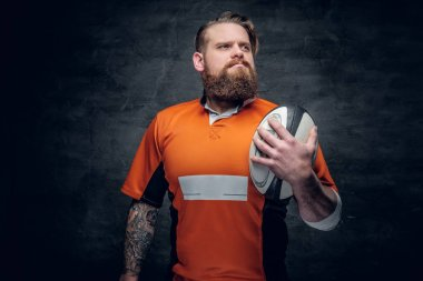 Bearded rugby player