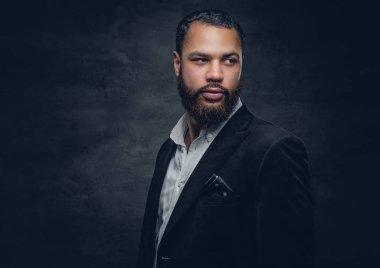 African man in black jacket
