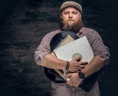 Fat bearded man