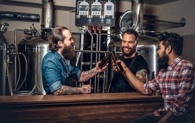 Men drinking craft beer