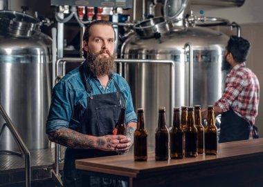 Men presenting craft beer