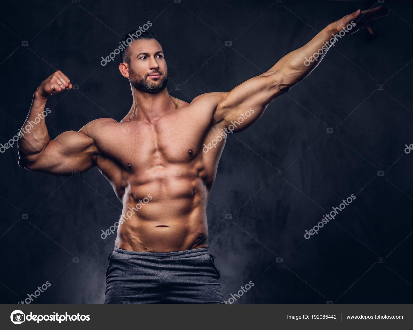 tall muscular man