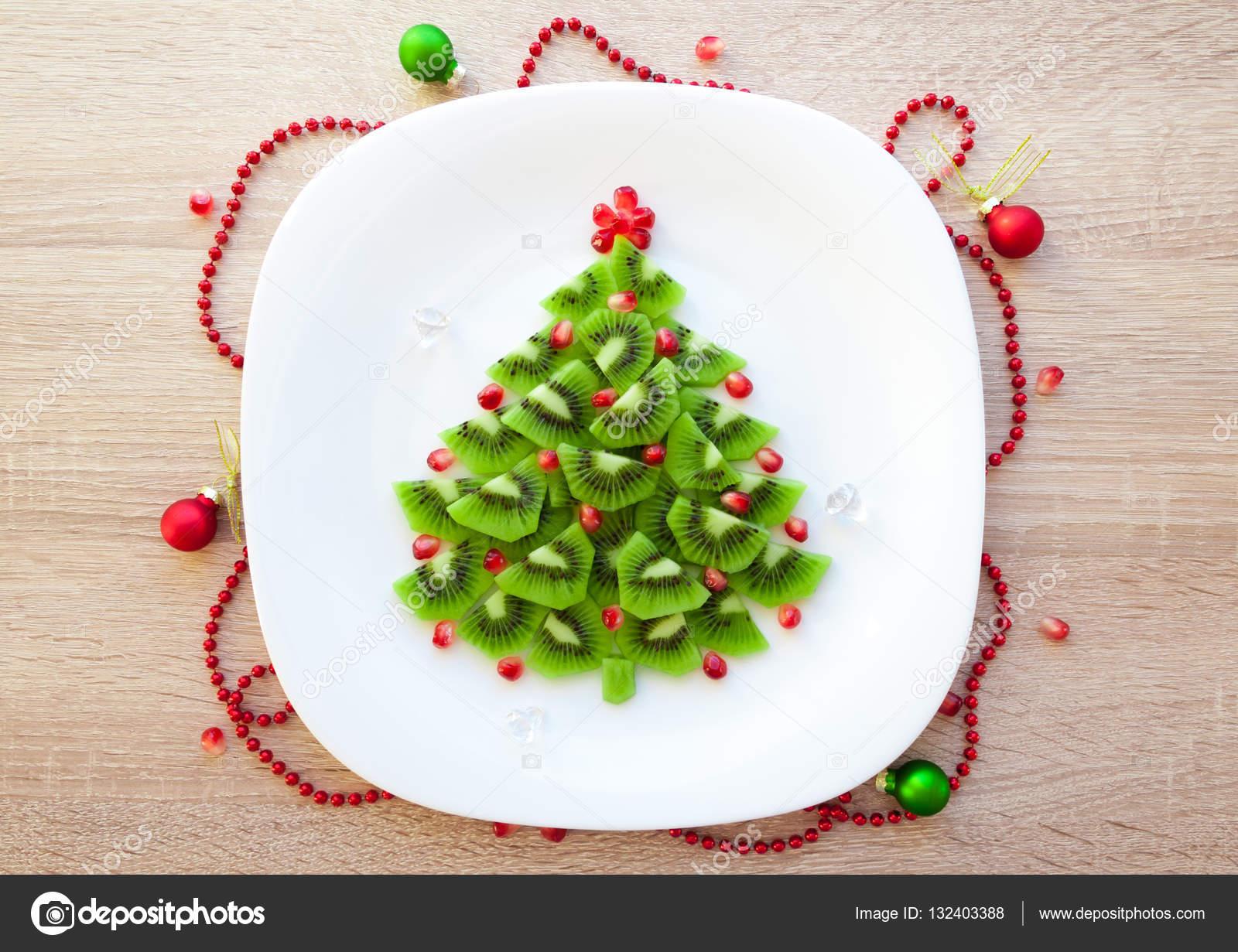 Weihnachtsbaum Kaufen Essen.Obst Kiwi Weihnachtsbaum Dessert Essen Rezept Idee Für Kinderparty