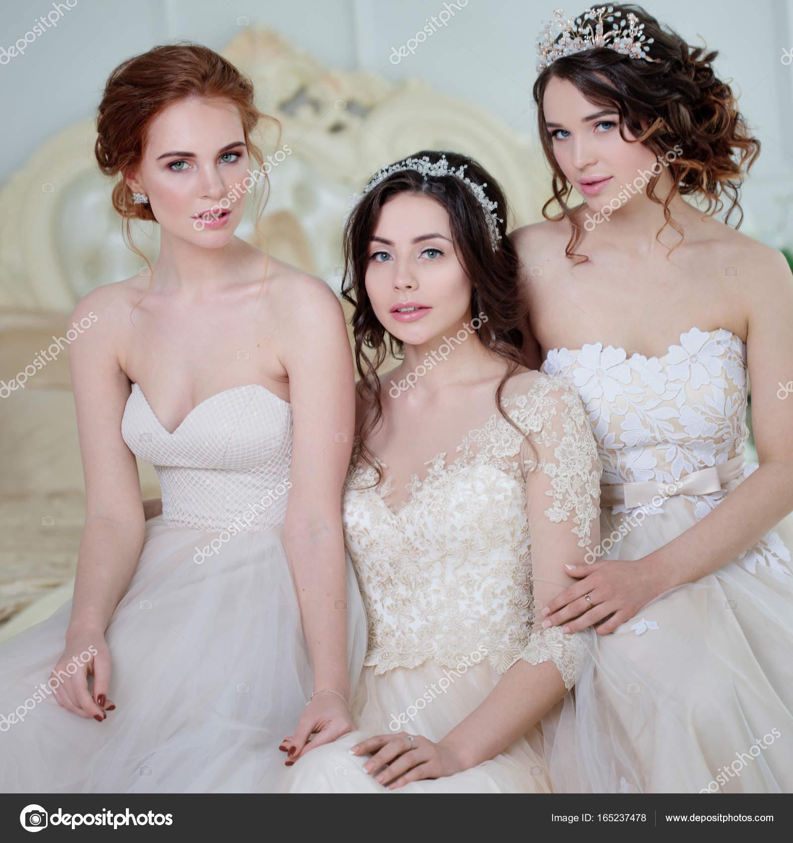 Tres En Chicas El NoviaHermosas Niñas Vestidos De Delicadas deBrxCoW