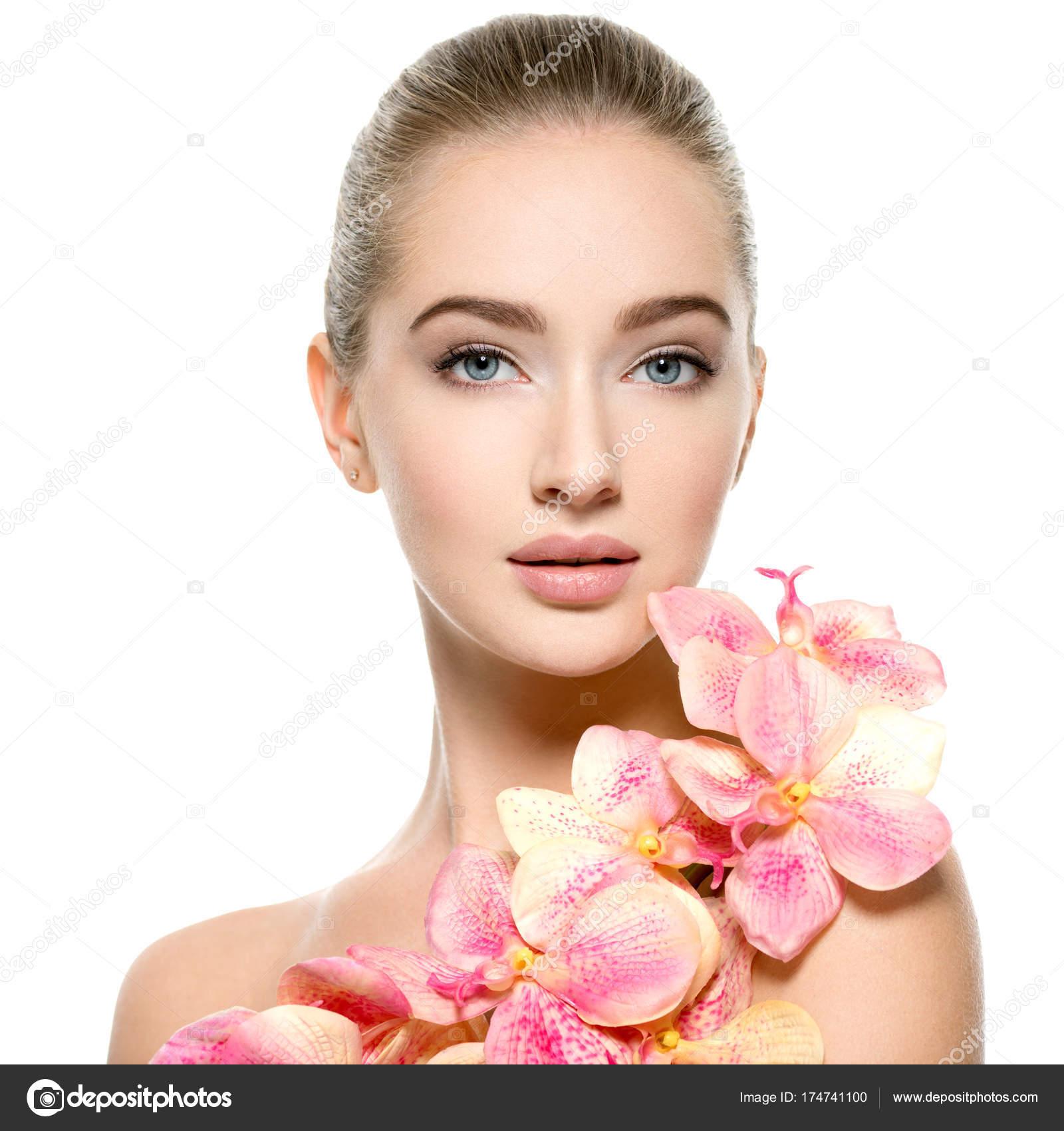 Красивые цветы красивые лица