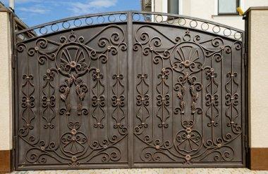 Modern forged gates.