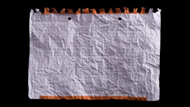 Zmuchlaný bílý list papíru