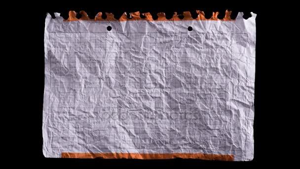 Foglio bianco di carta sgualcito