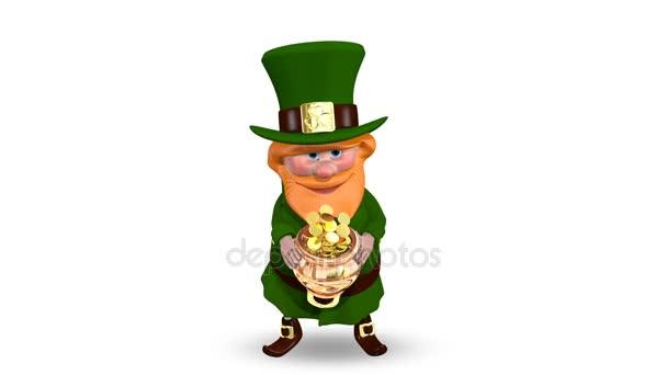 Svatý Patrick hrnec s mincí