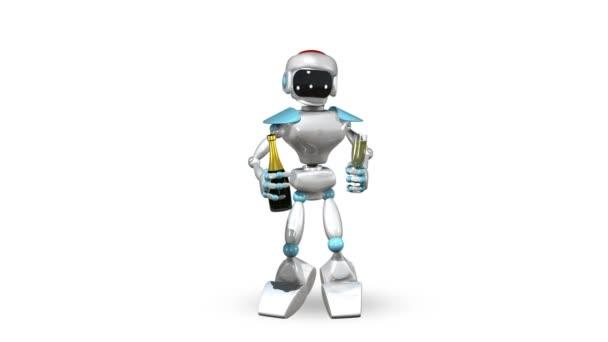 Tančící Robot s Champagne