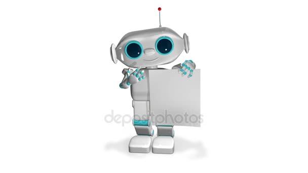3D animáció Robot fehér könyv