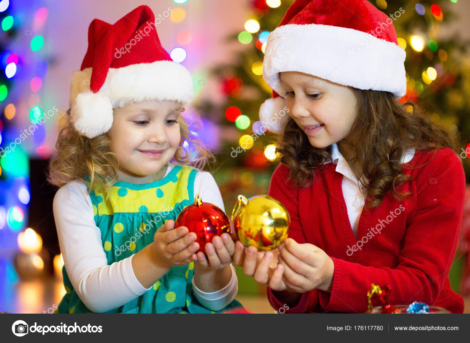049f15747d01b little girls in christmas — Stock Photo © yanlev  176117780