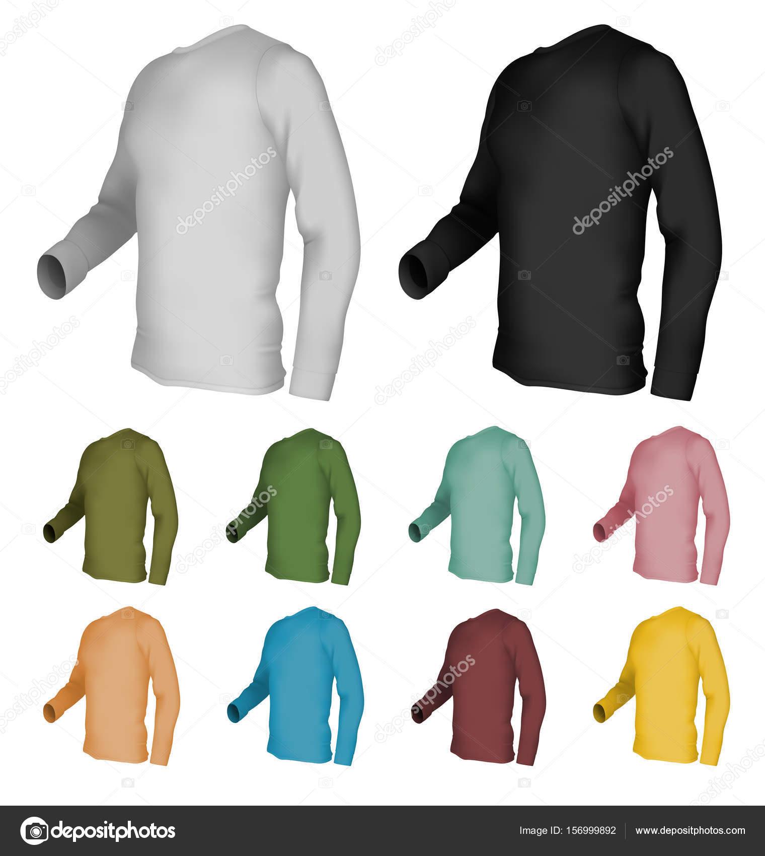 leere Langarm T-shirt-Vorlage — Stockvektor © barghest #156999892