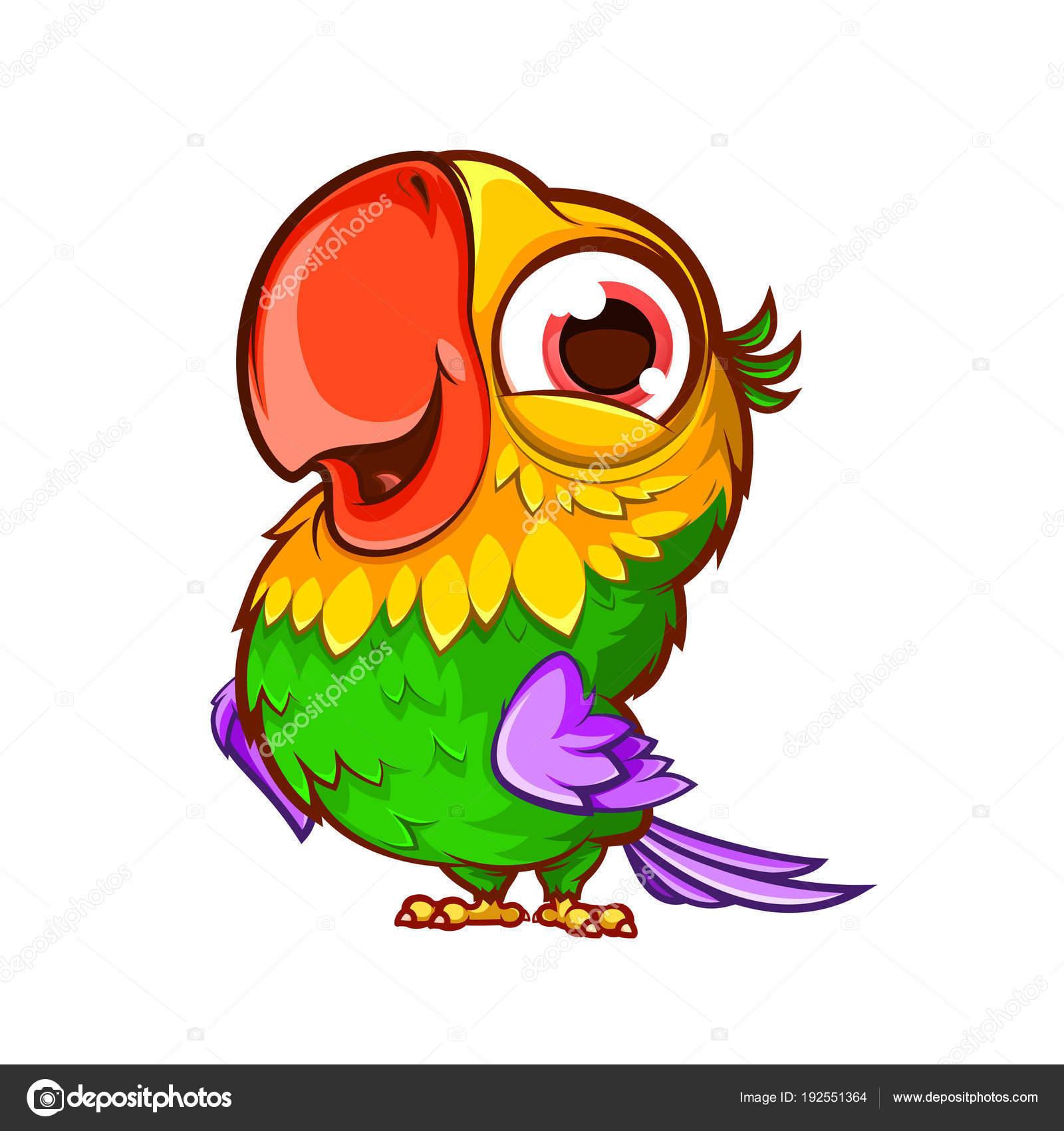Cartoon Cute Parrot Vector Image By C Yuanden Vector Stock 192551364