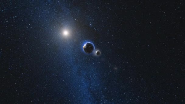 Planeta Země otáčí a přístup v otevřeném prostoru