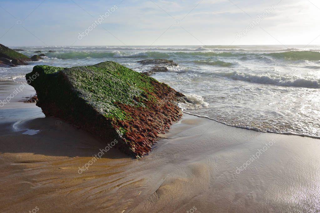 Фотообои Atlantic Ocean coast, Azenhas do Mar village, Sintra, Lisbon, Po