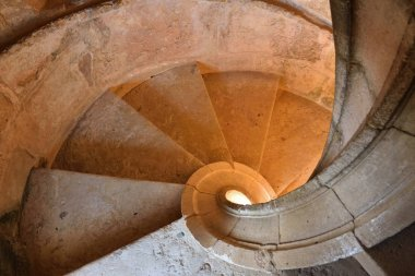 Convent of Christ in Tomar, Portugal. Spiral staircase