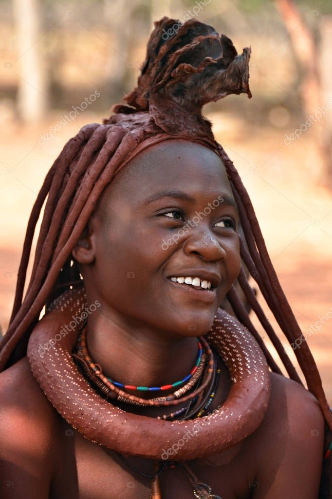 Tribe Of Himba Women Dancing Outdoors In The Desert Of