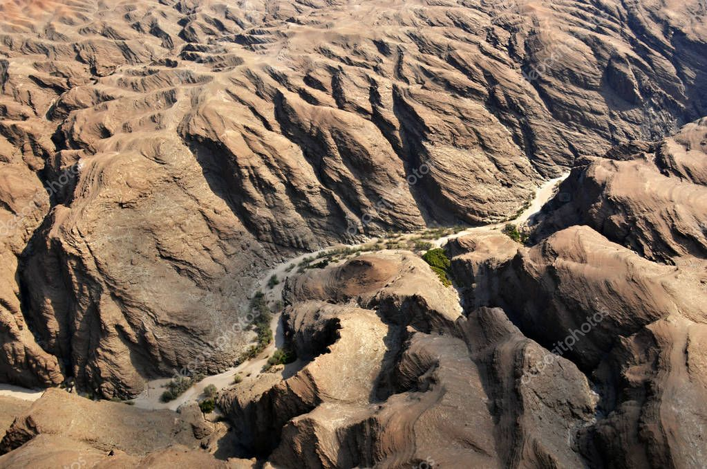 Flight over Kuiseb canyon, Namibia