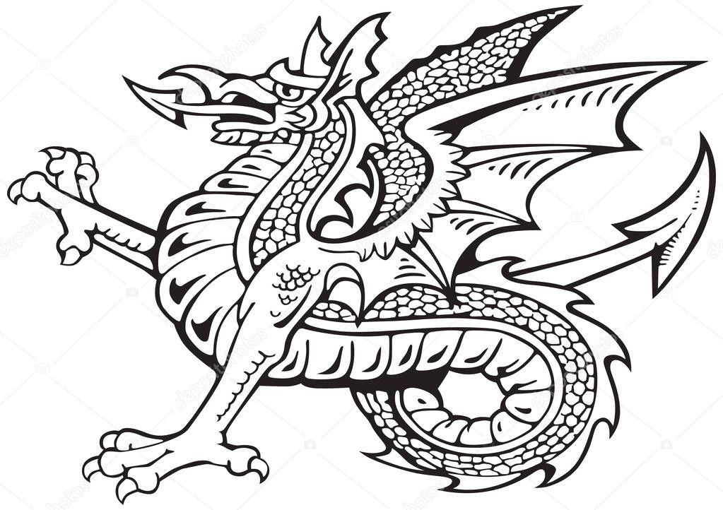 Dragon Heraldry: Stockvektor © Bussja #178159984