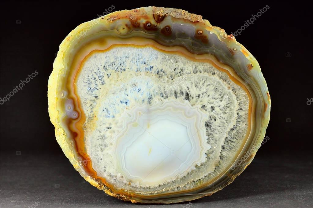 The highlighted Cut of white agate