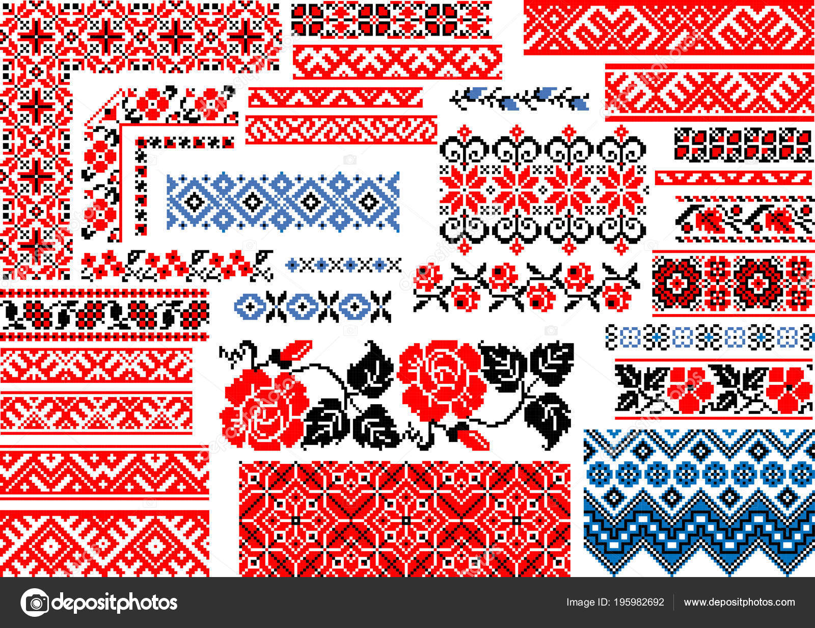 Collection Modifiable Sans Soudure Ethniques Motifs Colorés