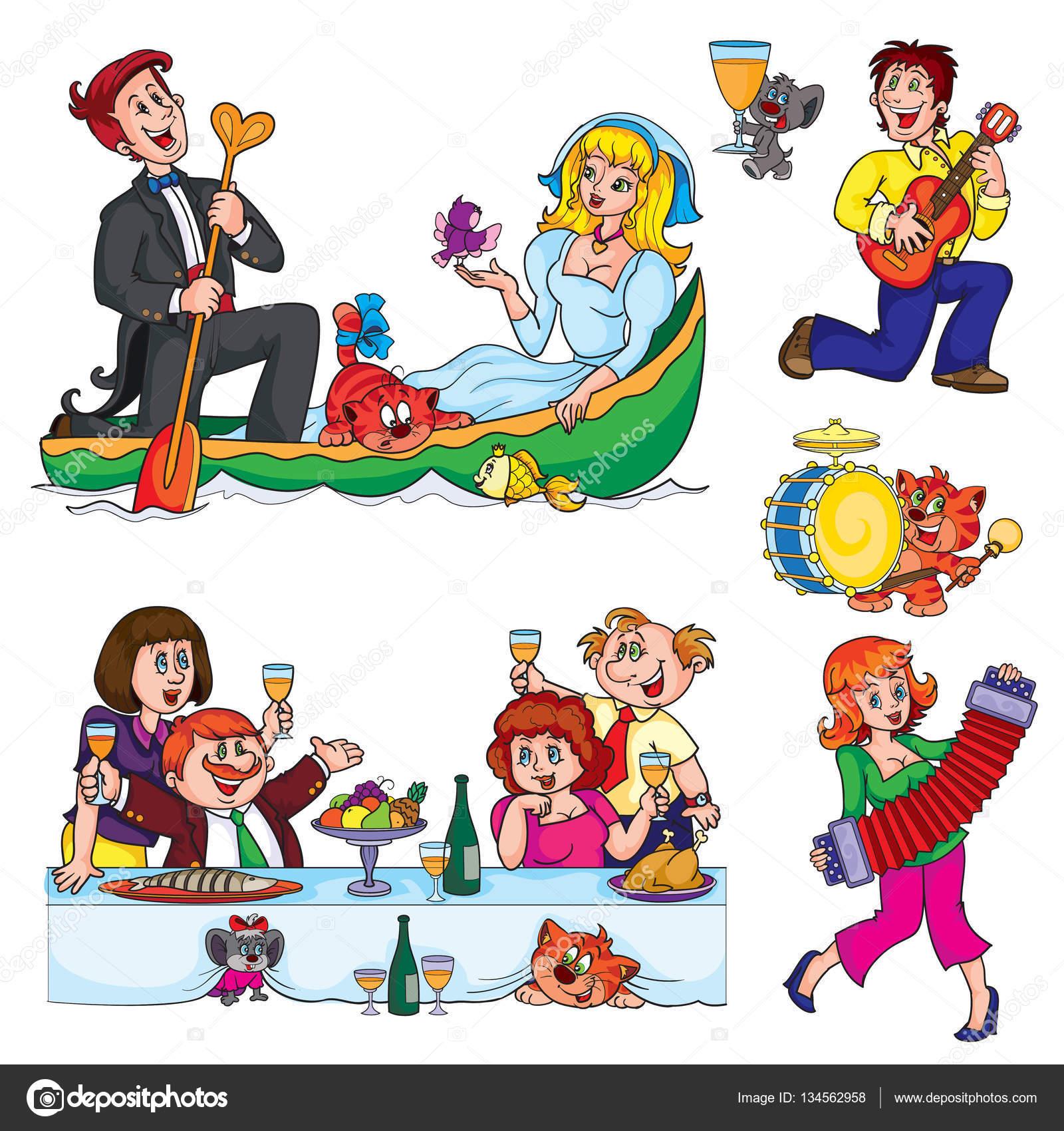 Hochzeit Comic Figuren Stockvektor C Kopirin 134562958