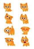 Photo Cartoon emotional cats