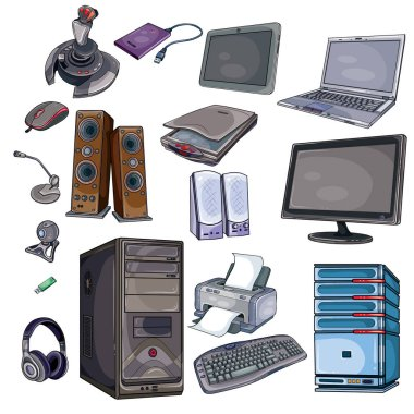Set of office equipment