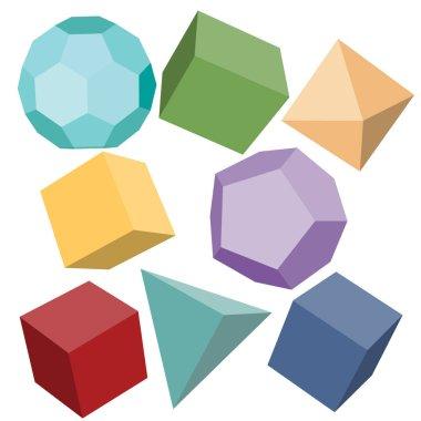three-dimensional geometric shapes