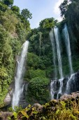 Cascade of Lemukih waterfall on Bali