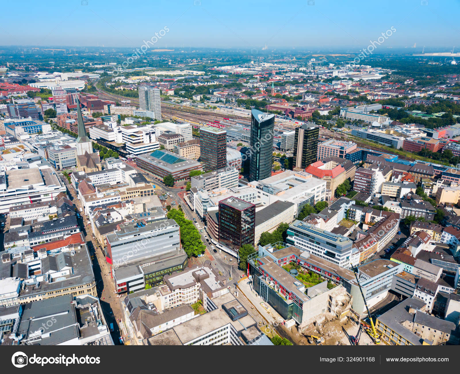 Dortmund city centre aerial view ⬇ Stock Photo, Image by © saiko3p  #324901168