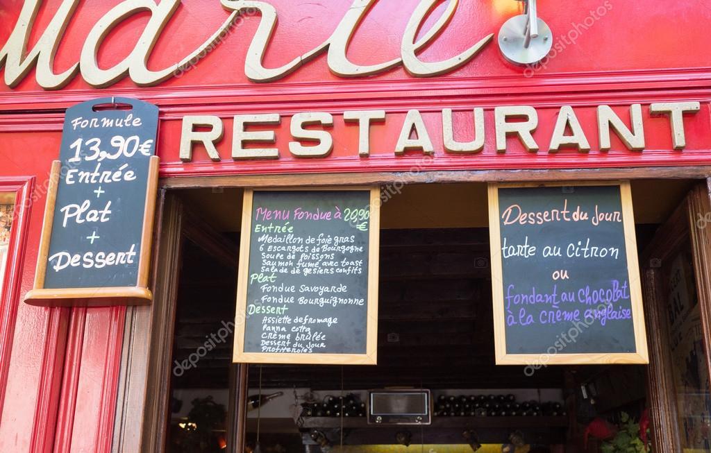 consiglio men all 39 esterno di un ristorante francese