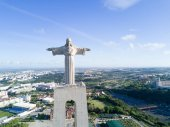 Aerial view of the statue of Cristo-Rei