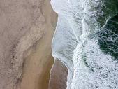 Fotografie DRONY pohled na nádherné portugalské pláže Costa Nova atrakce Prado - Aveiro