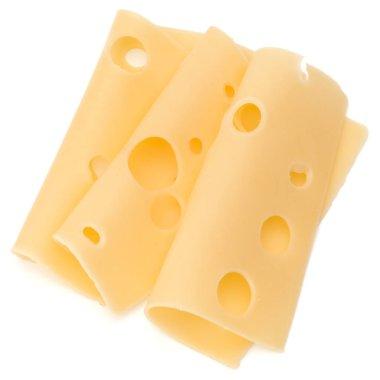 three Cheese slices