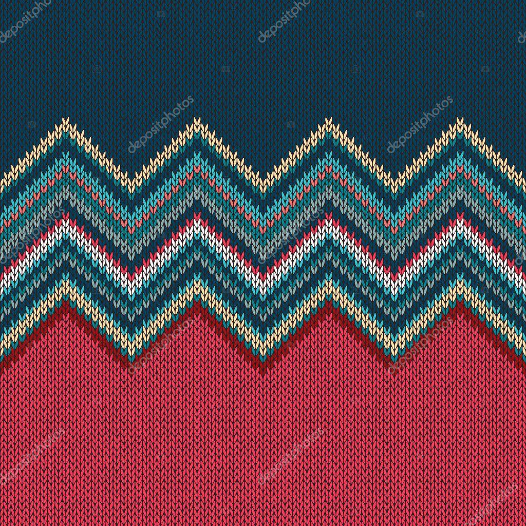 Sin costura tejer patrón de Navidad con adornos de onda — Foto de ...