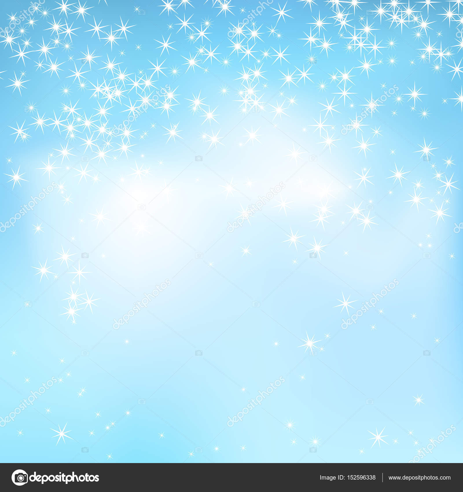 blue sky abstract background with soft clouds and stars magical new year christmas event