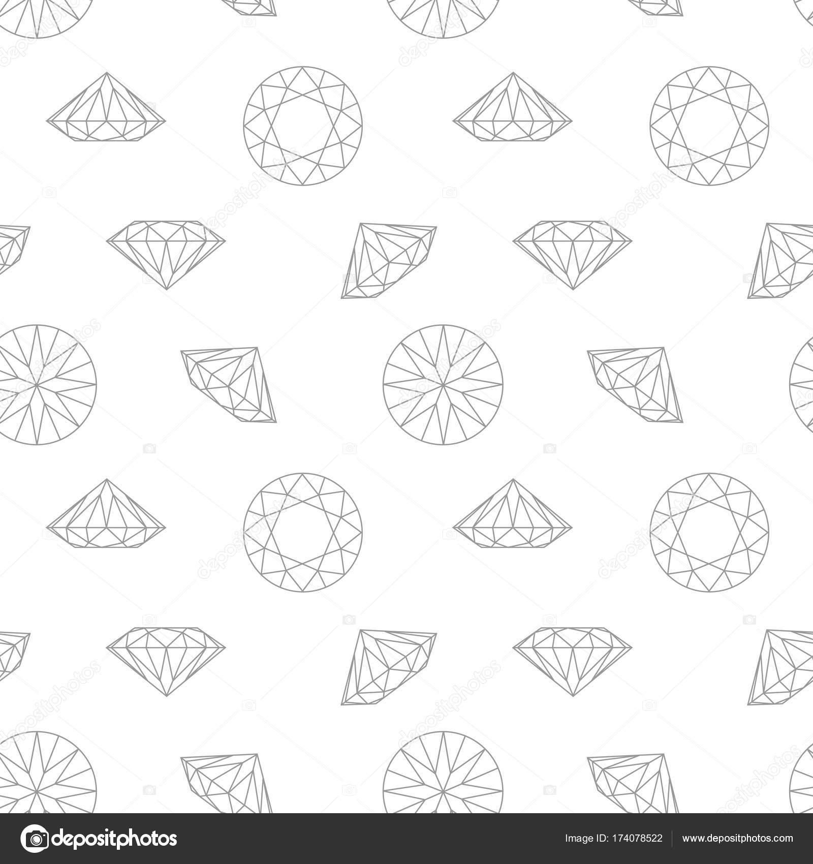 diamant konzept nahtlose muster mode stil geschenkpapier hellen hintergrund schwarz und wei vektor von prezent - Konzept Muster