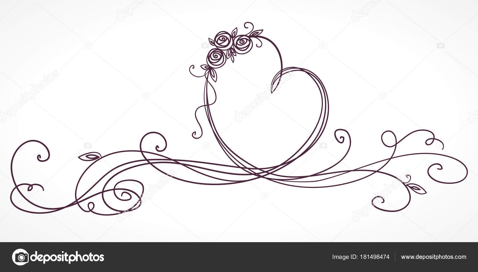 Nastro di forma del cuore giorno di san valentino - Colore del giorno di san valentino ...